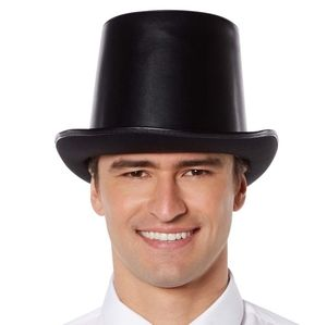 Vampire Faux Leather Top Hat